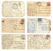 Antigo conjunto de cartões postais — Foto Stock