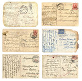 Old postcards set — Foto Stock