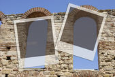 Two frames on greek architecture — Stock Photo