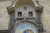 Astronomical clock in Prague's Old Town — Stock Photo