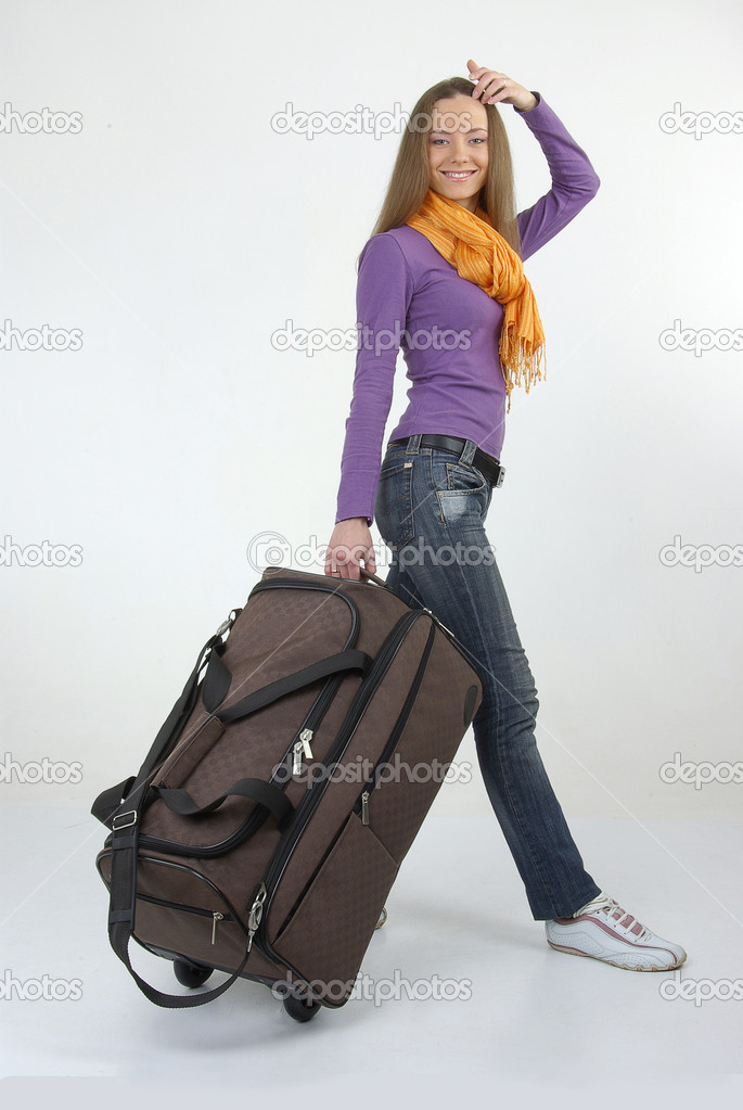 Beautiful girl with modern bag — Stock Photo #11984129