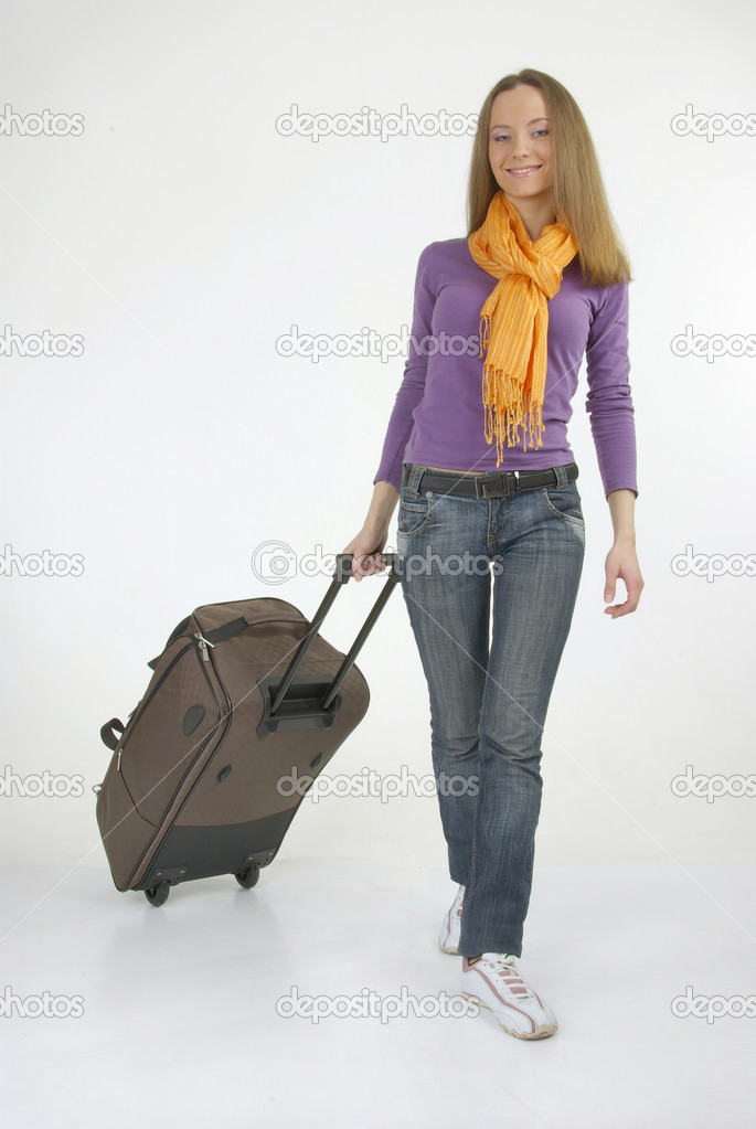 Beautiful girl with modern bag — Stock Photo #11984178