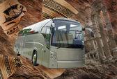 Cestování autobusem ilustrace — Stock fotografie