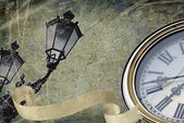 Old clock illustration — Stock Photo
