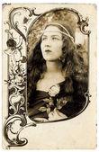 Old postcard — Stock Photo