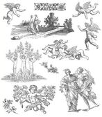 Engelen en godin illustratie — Stockfoto