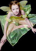 A child is in the suit of fairy — Stock Photo