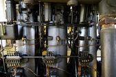 Big diesel engine water pump from 1930 — Stock Photo