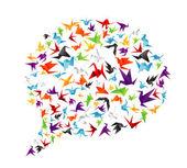 Paper bird call-out — Stock Vector