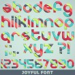 Joyful font — Stock Vector