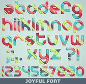 Joyful font — Stock Vector
