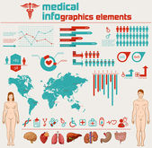 Medical info graphics — ストックベクタ