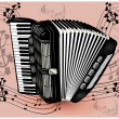 Stock Vector: Black accordion