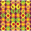 Fruit pattern — Stock Vector