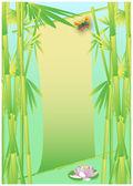 Bambus přání — Stock vektor
