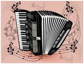Black accordion — Stock Vector