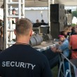 Security officer at concert — Stock Photo #11813144