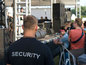 A security officer at the concert — Stock Photo