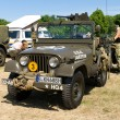 "PAAREN IM GLIEN, GERMANY - MAY 26: Car Willys M38A1 US Army Jeep, ""oldtimer show"" in MAFZ, May 26, 2012 in Paaren im Glien, Germany — Stock Photo #11970177"