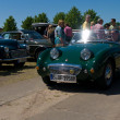"PAAREN IM GLIEN, GERMANY - MAY 26: Cars Austin-Healey Sprite, ""The oldtimer show"" in MAFZ, May 26, 2012 in Paaren im Glien, Germany - Stock Photo"