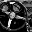 "PAAREN IM GLIEN, GERMANY - MAY 26: Cab Alfa Romeo (Black and White), ""The oldtimer show"" in MAFZ, May 26, 2012 in Paaren im Glien, Germany - Stock Photo"
