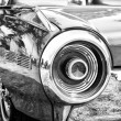 "Stock Photo: PAAREN IM GLIEN, GERMANY - MAY 26: fragment of car Ford Thunderbird (Black and White), ""oldtimer show"" in MAFZ, May 26, 2012 in Paaren im Glien, Germany"