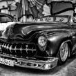 Постер, плакат: PAAREN IM GLIEN GERMANY MAY 26: Custom Car based on the Buick Skylark Black and White The oldtimer show in MAFZ May 26 2012 in Paaren im Glien Germany