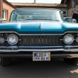 "PAAREN IM GLIEN, GERMANY - MAY 26: Cars Oldsmobile Super Holiday 88, ""The oldtimer show"" in MAFZ, May 26, 2012 in Paaren im Glien, Germany - Stock Photo"