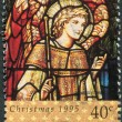 NEW ZEALAND - CIRCA 1995: A stamp printed in New Zealand, is dedicated to Christmas, Stained glass windows, depicts Archangel Gabriel, circa 1995 — Stock Photo #11972166