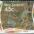 NEW ZEALAND - CIRC1995: stamp printed in New Zealand, dedicated to Control animal pests, circ1995 — Stock Photo #11972188