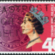 NEW ZEALAND - CIRCA 1988: Postage stamps printed in New Zealand, is dedicated to the 100th anniversary of the Royal Philatelic Society of NZ, shows Queen Elizabeth II, circa 1988 — Photo