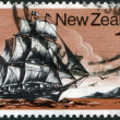 """NEW ZEALAND - CIRCA 1975: A stamp printed in New Zealand, shows a sailboat """"Tory"""", circa 1975 — Stock Photo #11972257"""