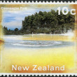 NEW ZEALAND - CIRCA 1996: Postage stamps printed in New Zealand, shows Champagne Pool, Rotorua, circa 1996 — Stock Photo