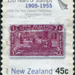 Royalty-Free Stock Photo: NEW ZEALAND - CIRCA 2005: Postage stamps printed in New Zealand, is dedicated to the 150th anniversary postage stamp NZ, shows Maori Art, circa 2005