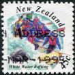 NEW ZEALAND - CIRCA 1994: Postage stamps printed in New Zealand, shows the White Water Rafting, circa 1994 — Lizenzfreies Foto