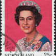 NEW ZEALAND - CIRCA 1985: Postage stamps printed in New Zealand, shows Queen Elizabeth II, circa 1985 — Stock Photo