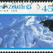 NEW ZEALAND - CIRCA 1992: Postage stamps printed in New Zealand, shows Franz Josef Glacier, Westland Tai Poutini National Park, circa 1992 — Stock Photo