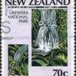 NEW ZEALAND - CIRCA 1987: Postage stamps printed in New Zealand, is dedicated to the 100th anniversary of the National park system, shows Park Urewera, circa 1987 — Stock Photo