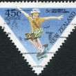 NEW ZEALAND - CIRCA 1995: A stamp printed in New Zealand, shows a child riding a skateboard, circa 1995 — Stock Photo