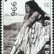 "NEW ZEALAND - CIRCA 1996: A stamp printed in New Zealand, is dedicated to the 100th anniversary of the movie, shows promotional screen shot ""Hinemoa"" by George Tarr (1914), circa 1996 — Stock Photo"