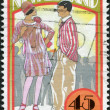 NEW ZEALAND - CIRCA 1992: Postage stamps printed in New Zealand, the emerging years: The 1920s: Flaming youth, circa 1992 — Stock Photo