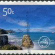 NEW ZEALAND - CIRCA 2009: Postage stamps alternativ Postal Service - Croxley mail, printed in New Zealand, shows Muriwai Beach on Auckland's west coast by photographer Paul Green, circa 2009 — Stock Photo