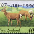 NEW ZEALAND - CIRCA 1995: A stamp printed in New Zealand, shows farm animals - Deer, circa 1995 — Stock Photo