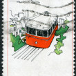 Royalty-Free Stock Photo: HONG KONG - CIRCA 1977: A stamp printed in the Hong Kong dedicated to tourism, is depicted Funicular railway, circa 1977