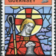 GUERNSEY - CIRCA 1973: A stamp printed in the Bailiwick of Guernsey, shows the Good Shepherd, St. Michel du Valle, circa 1973 — Stock Photo #11973872