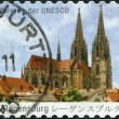 GERMANY - CIRCA 2011: A stamp printed in Germany, shows the Cathedral Saint Peter, Regensburg (builds in 1273-1520), circa 2011 - Stock Photo