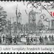 GERMANY - CIRCA 2011: A stamp printed in Germany, dedicated to 200 years of gymnastic place Friedrich Ludwig Jahn, circa 2011 — Stock Photo #11974038