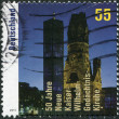 Royalty-Free Stock Photo: GERMANY - CIRCA 2011: A stamp printed in Germany, is dedicated to the 50th anniversary of the new Kaiser Wilhelm Church, circa 2011