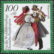 GERMANY - CIRCA 1994: A stamp printed in Germany, shows the Traditional Costumes, Hoyerswerda, Saxony, circa 1994 — Stock Photo