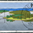 GERMANY - CIRCA 1996: A stamp printed in Germany, shows Saale scenery in Thuringia, circa 1996 — Stock Photo